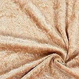 Fabulous Fabrics Pannesamt beige – Weicher Samt Stoff zum
