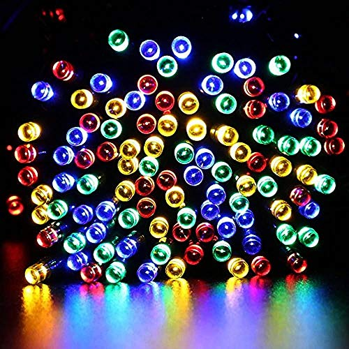 Solar String Lights Outdoor Led Fairy Lights Solar Fairy String Light for Garden Fence Home Christmas Tree Party Plaza 50 Led Multi-Colored