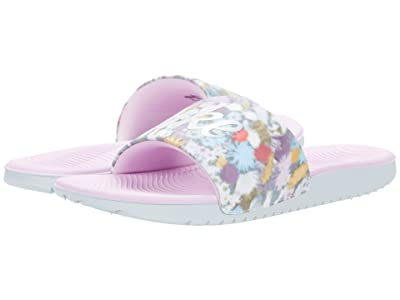 Nike Kids Kawa SE Slide (Little Kid/Big Kid) (Pure Platinum/Metallic Silver) Girl