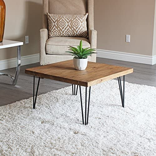 Best WELLAND Rustic Square Old Elm Coffee Table