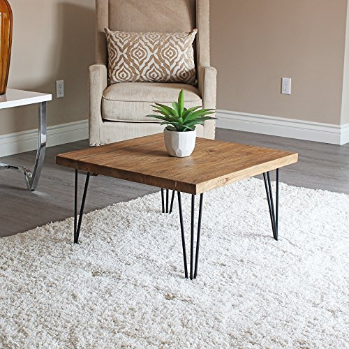 WELLAND Rustic Square Old Elm Coffee Table