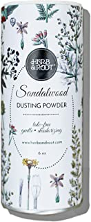 Sandalwood Scented Body Dusting Powder for Men or Women, Talc Free, Prevent Chafing, Bath Powder, Dusting Powder   Herb & ...