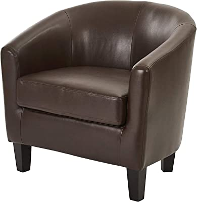 Аvеnuе Six Office Home Furniture Premium Ethan Tub Chair in Deluxe Cocoa Vinyl Fabric