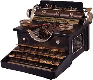 EliteTreasures Black Metal Typewriter Replica Antique Retro Vintage Style Art Film Props Shooting Model Industrial Decor