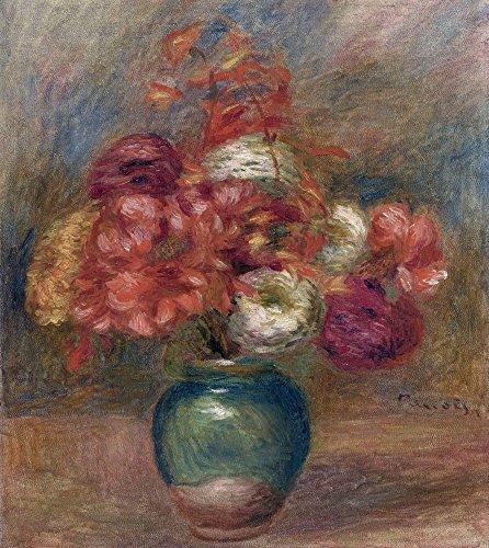 Das Museum Outlet–Blumen in einer grünen Vase–Dahlien Und Asters, 1910–Leinwand Print Online kaufen (152,4x 203,2cm)