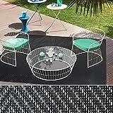 casa pura® Indoor- und Outdoor-Bodenbelag Catania | kunstvoll gewebter Terrassenteppich | als Outdoor Teppich Meterware oder Läufer für innen | 40 Größen (60x100cm) - 5