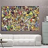 Y-fodoro Simpsons Jigsaw Puzzles Puzzle, Personajes de Madera Dibujos Animados Anime Pinturas 1000 Piezas Adultos Rompecabezas, Niños Cerebro Iq Desarrollando Juguete