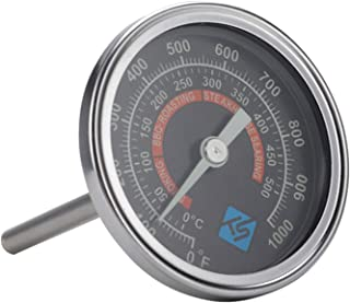 YUZI - Termometro per barbecue e barbecue, con indicatore di temperatura e luce notturna