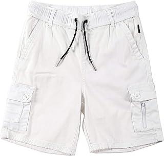 Boy's Cargo Twill Moto Biker Shorts