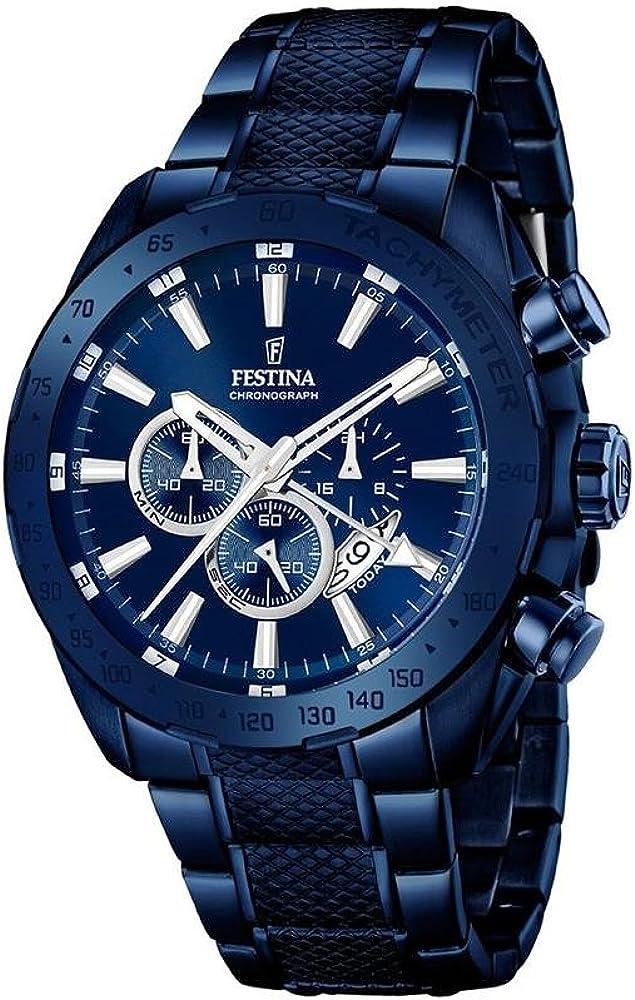 Festina orologio cronografo uomo in acciaio inossidabile F16887/1
