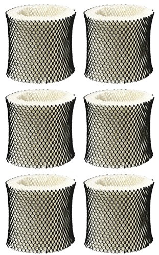 Nispira Humidifier Wick Filter Replacement Compatible with Holmes Type A HWF62 HWF62CSHM1281, HM1701, HM1761, HM1297 and HM2409, 6 Units