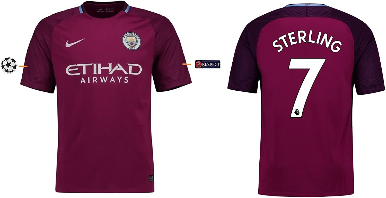 Trikot Herren Manchester City 2017-2018 Away UCL - Sterling 7