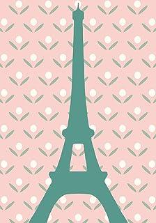 Alibabette Editions Paris Postcard 10 Pack Eiffel Green on Pink (ACP019)