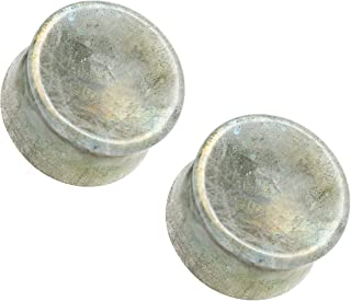 Pair Solid Clear Double Flare Ear Plugs Acrylic Saddle Gauges-Piercings Retainer