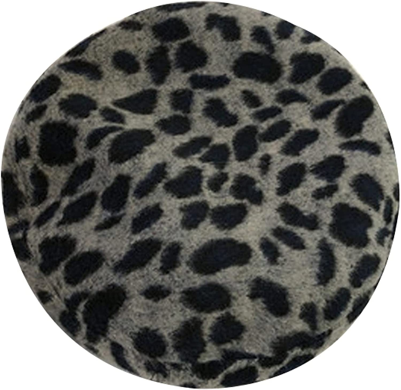 AOBRICON Fashion Beret Hat Women Autumn Winter Leopard Retro Newsboy Caps Painter Octagonal Adjustable Flat Cap