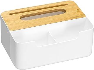 Navaris Boite mouchoirs Multifonctions - Rangements téléphone Portable télécommande cosmétiques clés - 21,7 x 18,5 x 8 cm...
