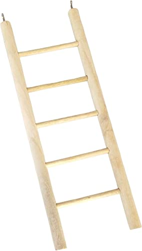 KSK Wooden and Metal Ladder Toy for Bird (Brown)