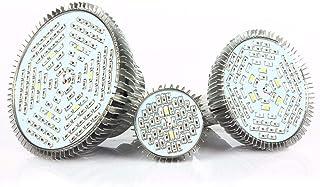 Bombilla de luz de planta de LED 78 Lámpara de cultivo Parche Luz de día súper brillante E27 50W IP42 para cada período de crecimiento Iluminación de 120 °, Tamaño: 9.4 * 9.4 * 9.8 CM (1 pcs)
