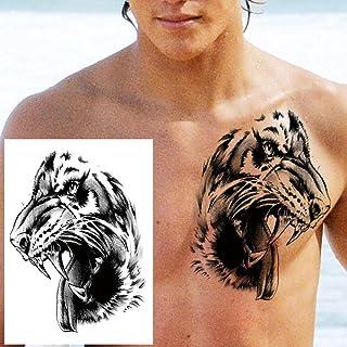 Geometrische Tijdelijke Tattoo Man Vrouw Kind Leeuw Vos Bloem Tattoo Zwarte Pioen Sticker Onderarm Tattoo-GTH220X