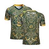 MRRTIME Maillot de Rugby Uniforme avec Logo brodé pour Homme, vêtements 19-20 Afrique du Sud, édition 100e Anniversaire, pour Un Usage Quotidien, Un Super Cadeau et Un Souvenir-L