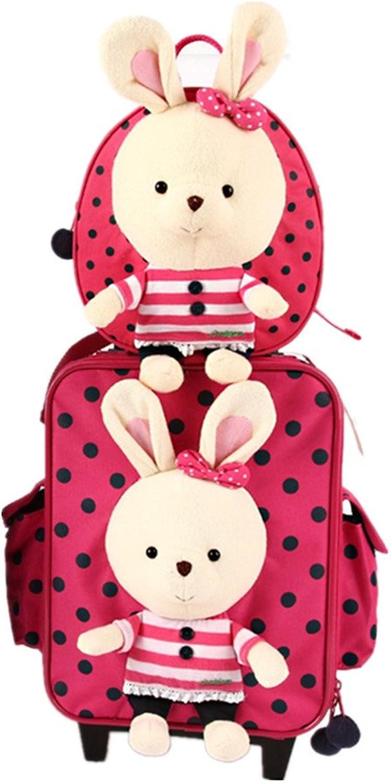 Br Hschen Tier Babyrucksack Kindergartenrucksack Kindergartentasche Backpack Schultasche SchulKoffer (Hschen Rucksack+Koffer)