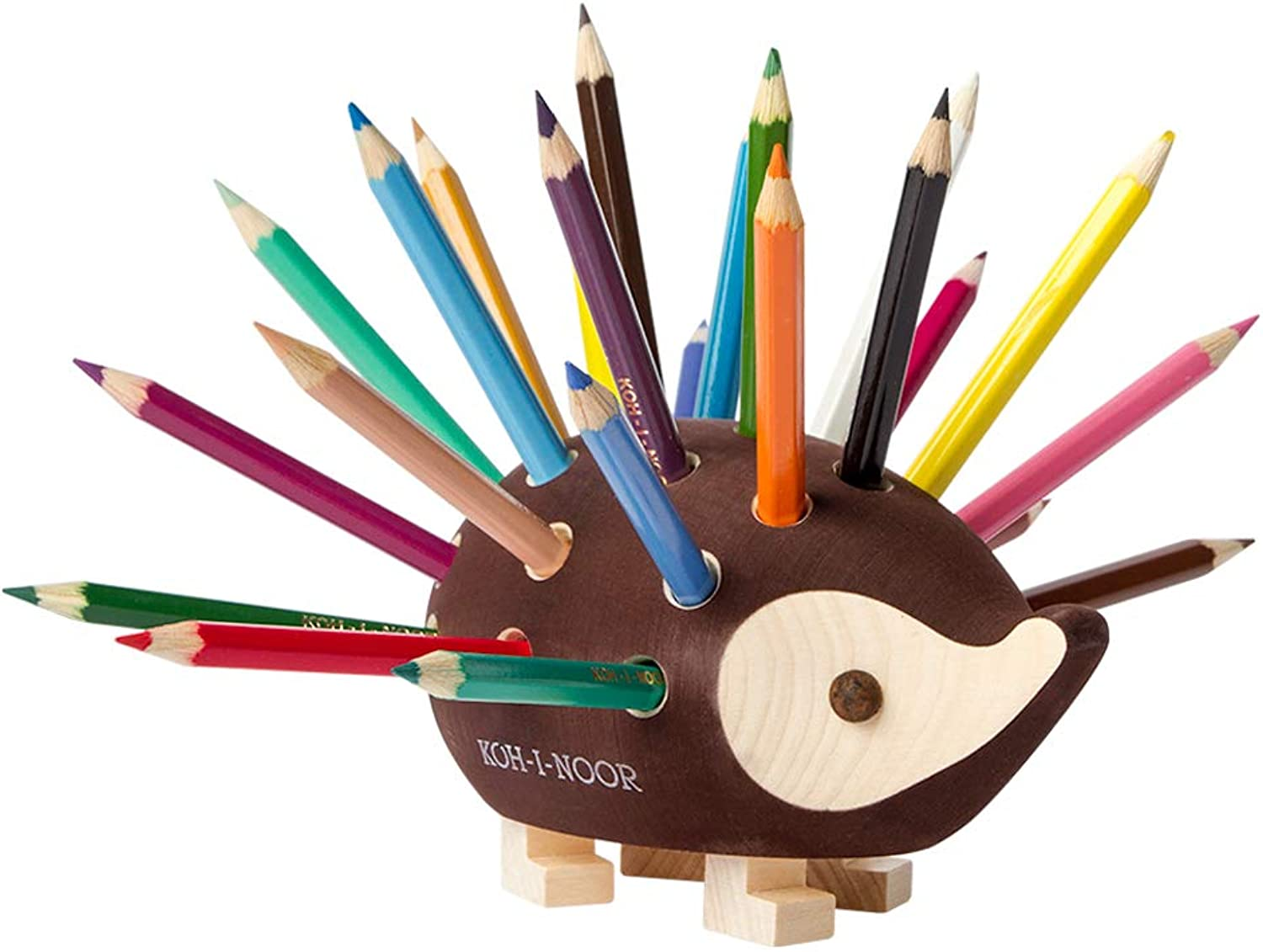 KOH-I-NOOR Small Hedgehog Pencil Holder with Pencil (Set of 24)