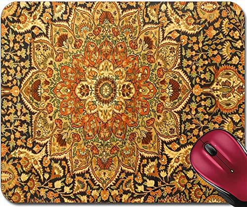 Mousepad Details von komplizierten blauen Mustern in türkischen Teppichen im Teppichgeschäft in Goreme Cappadocia Turkey