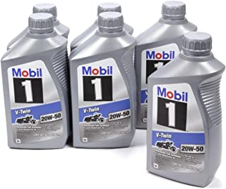 Mobil 1V-Twin 20W50112630 Pack of 6 Quarts
