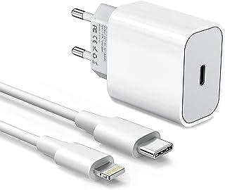 Cargador USB C Amoner 20w y Cable de Carga para Phone Cargador rápido para Phone -12/12mini/12 Pro/ 12 Pro MAX/ 11/11 Pro/...