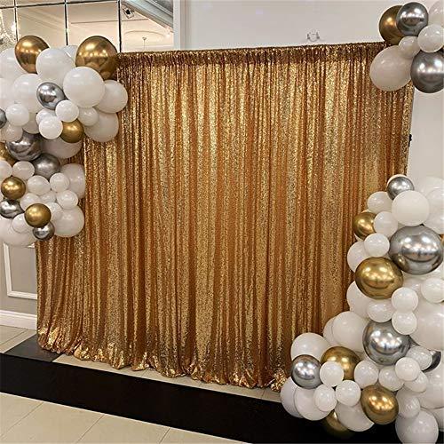 SoarDream goldenes Gewebe mit Pailletten, Hintergrund für Fotografie, Hintergrund mit Pailletten, 1,2m x 2m