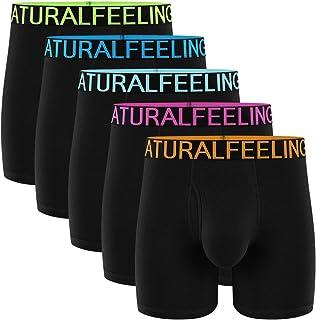 Natural Feelings Mens Boxer Shorts Cotton Trunks Breathable Mens Underwear Boxer Briefs
