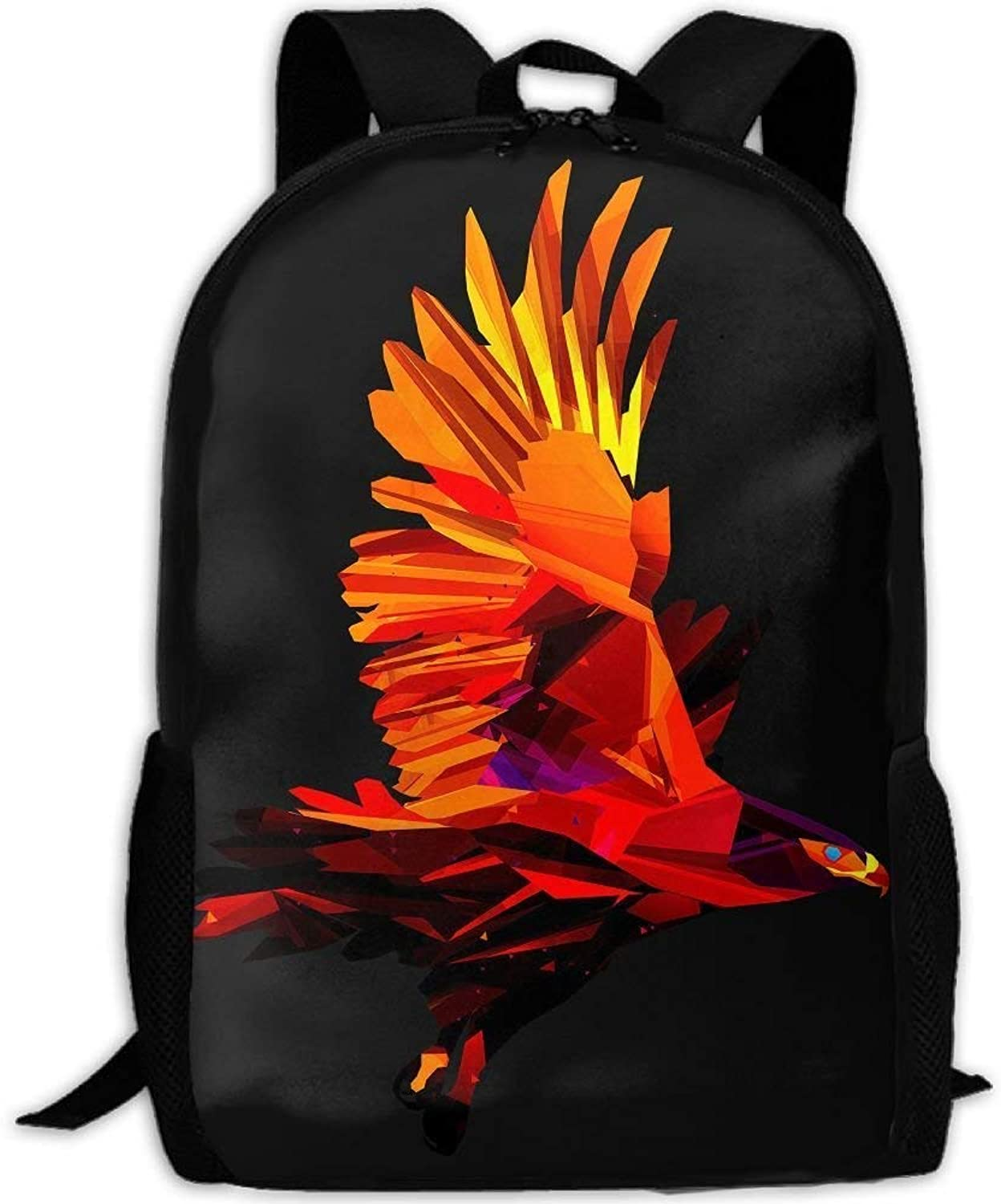 Backpack for Adults Hiking Geometry Eagle Shape Durable Travel