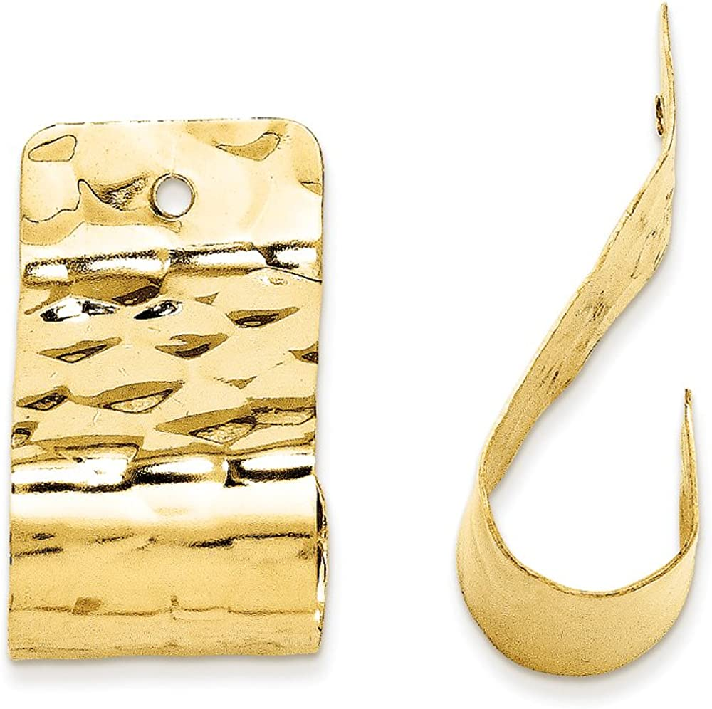 Finejewelers 14k Yellow Gold Polished Hammered Earring Jackets