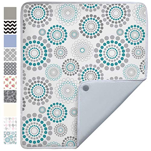 Gorilla Grip Premium Ironing Pad, Machine Washable, Magnetic Laundry Pad, 28 x 24 Inch, Heat and Scorch Resistant, Iron Board Mat for Table Top, Washer, Dryer, Durable Pads, Travel, Turquoise Spiral