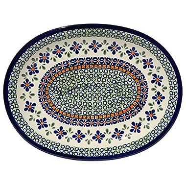 Polish Pottery Platter From Zaklady Ceramiczne Boleslawiec 1006-du60 Unikat Pattern