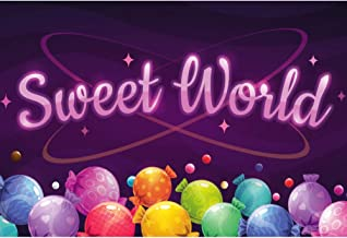 Haoyiyi 10x8ft Sweet World Backdrop Hansel and Gretel Candy House Backgrounds Photography Baby Shower Infant Adults Xmas Birthday Party Photo Decoration YouTube Supplies Photoshoot Pictures