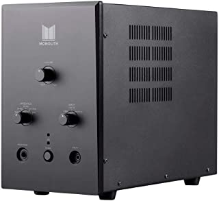 Monolith Tube Amp Headphone Amplifier - Black with ESS ES9018 Sabre Chip DAC   Impedance Selector   Tube Sound