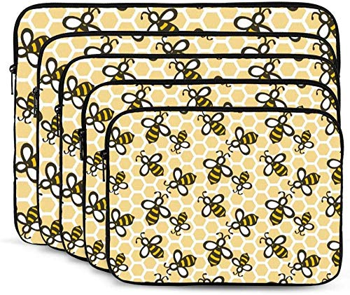 Honey Bees Laptop Sleeve Bag Tablet Travel Protective Case Cover Compatible with 10-17 Inch Laptop