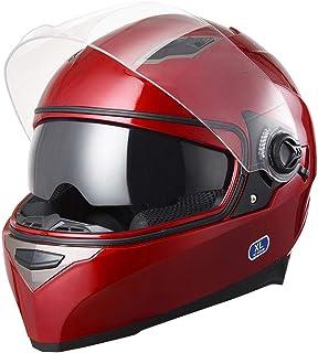 AHR Run-F DOT Motorcycle Full Face Helmet Dual Visors Sun Shield Lightweight ABS Street..