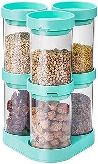 SMEJS Bouteille de Assaisonnement Vert, épices Boîte de Rangement Cuisine Sealed Pepper Pepper Grand matériel de Stockage ...