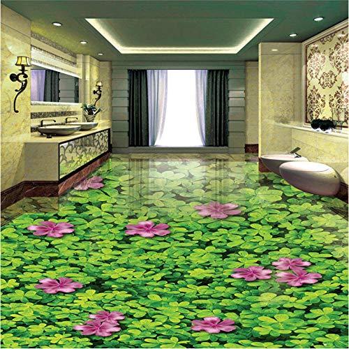 Frescos personalizados seis hojas plantas florales baño estéreo 3d sala de estar fondo de baldosas 350x245cm