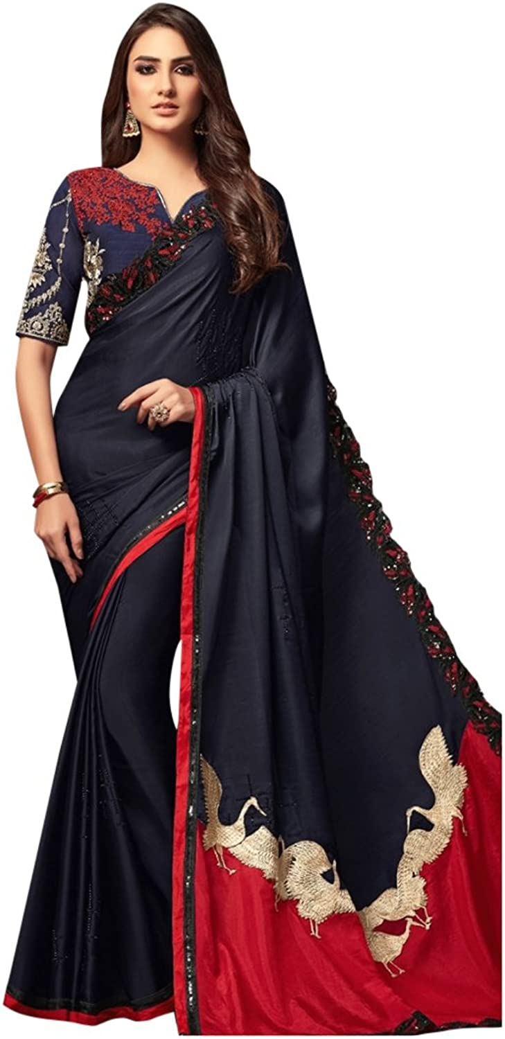 Bollywood Bridal Saree Sari for Women Collection Blouse Wedding Party Wear Ceremony 828 8