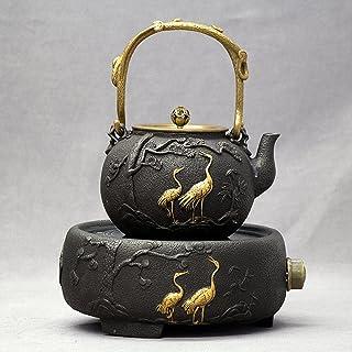 Bouilloire en fonte non revêtue dorée à la main en fonte cuisinière électrique en céramique Kung Fu service à thé-E3