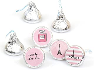 Paris, Ooh La La - Paris Themed Baby Shower or Birthday Party Round Candy Sticker Favors – Labels Fit Hershey's Kisses (1 ...