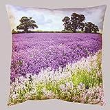 heimtexland Kissen mit hochwertigem Digitaldruck auf samtig weicher Qualität - Lavendel Sommerwiese...