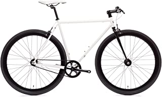 Ghoul Core-Line State Bicycle | Fixie Single Sped Fixed Gear Bike - Ghoul (White & Black) Medium (54 cm)