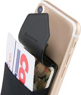 SINJIMORU 手帳型 カードケース、SUICA PASMO カード入れ パース ケース iphone android対応 スマホ 背面 カードホルダー、シンジポ-チflap、ブラック。