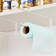 Bluecookies Kitchen Paper Hanger Sink Roll Towel Holder Organizer Rack Space Save Bathroom Roll Paper Shelf Hanging Door H...