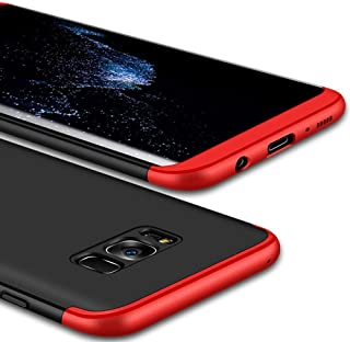 Samsung Galaxy S8+ Case Fashion ultra Slim Gkk 360 Cover Case - Red & Black