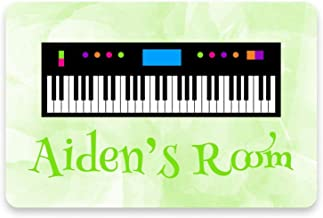 DKJN Personalized Name's Piano Keyboard Metal Room S